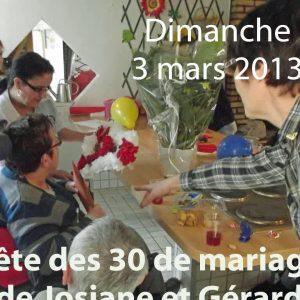30 Ans de mariage de Gérard et Josiane