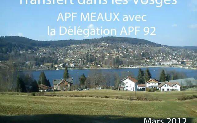 Transfert dans les Voges avec la la délégation APF 92