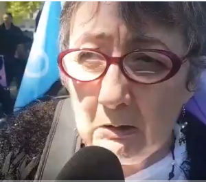 Josiane à la Manifestation du 14 mai 2019